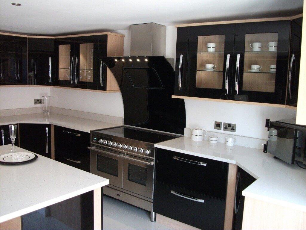 kitchens with flat design doors